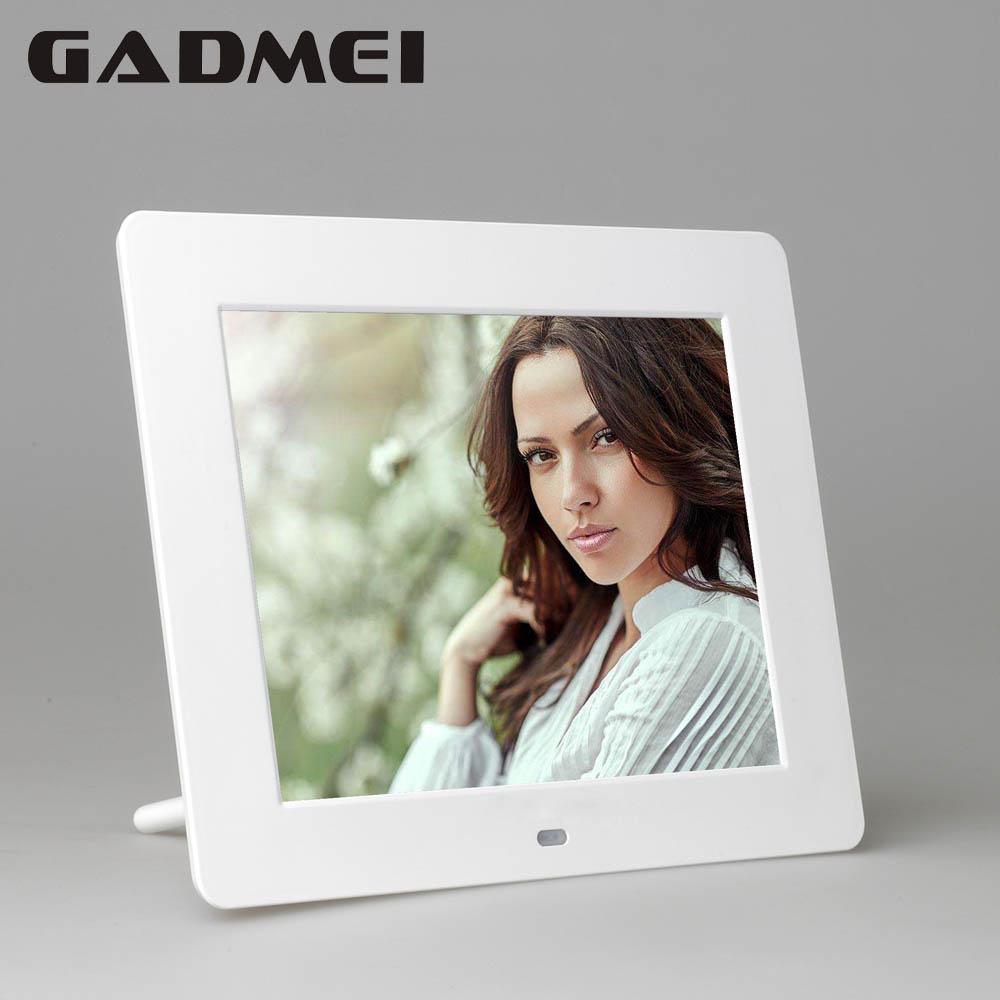 Prix pour Nouveau 8 pouce Mode HD Cadre Photo Numérique, horloge et Calendrier fonction, MP3 et Lecteur Vidéo, meilleur Cadeau, envoi gratuit