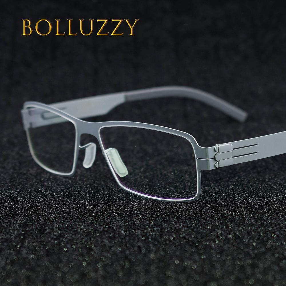 Men Women No Screw No Welding Eyeglasses Frame Full Rim Optical Prescription Reading Finding Degree Eye Glass Wear For Men Women