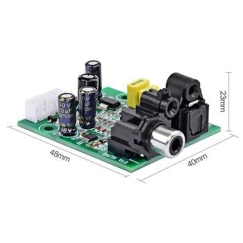Dac Décodeur Numérique Cs8416 + Cs4344 Fiber Optique Coaxiale Entrée De Signal Numérique Sortie Audio Stéréo Decod Pour Amplificateur Bricolage