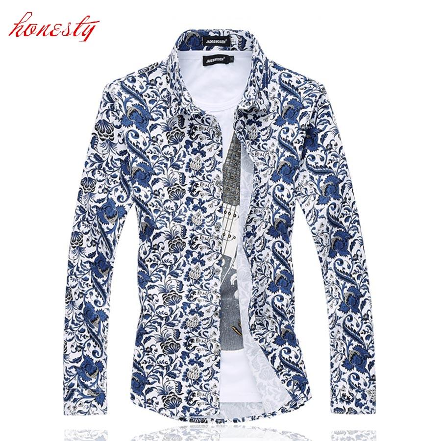 Férfi ingek Plusz méretű M-6XL hosszú ujjú blúz Slim Fit - Férfi ruházat