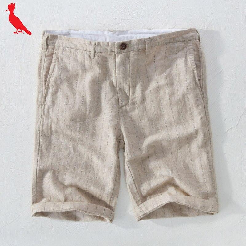 2019 dudalina Men Clothing Summer New Men reserved   short   masculino Linen fabric comfortable breathable   shorts   bermuda masculina