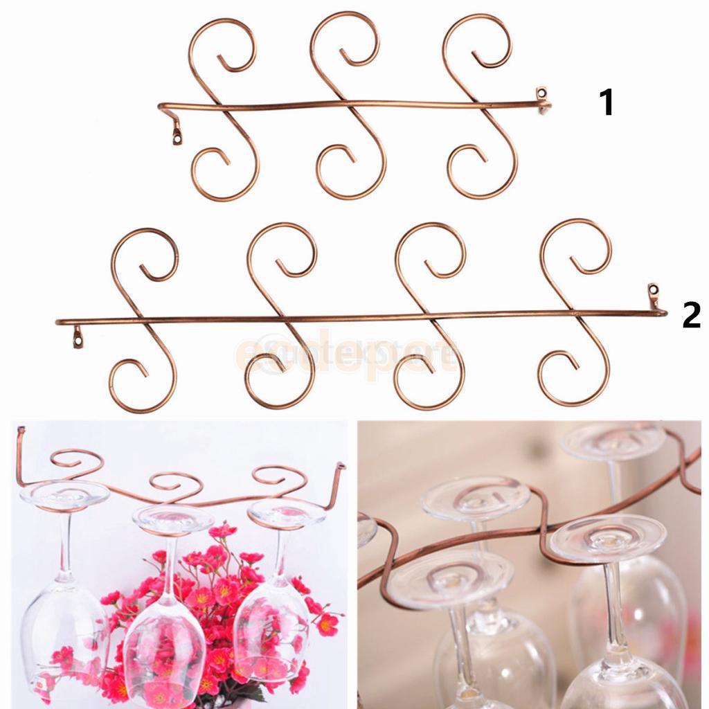 Retro Red Wine Gl Rack Holder Stemware Goblet Glm Storage 6 8 Hanging In Hooks Rails From Home Garden On Aliexpress