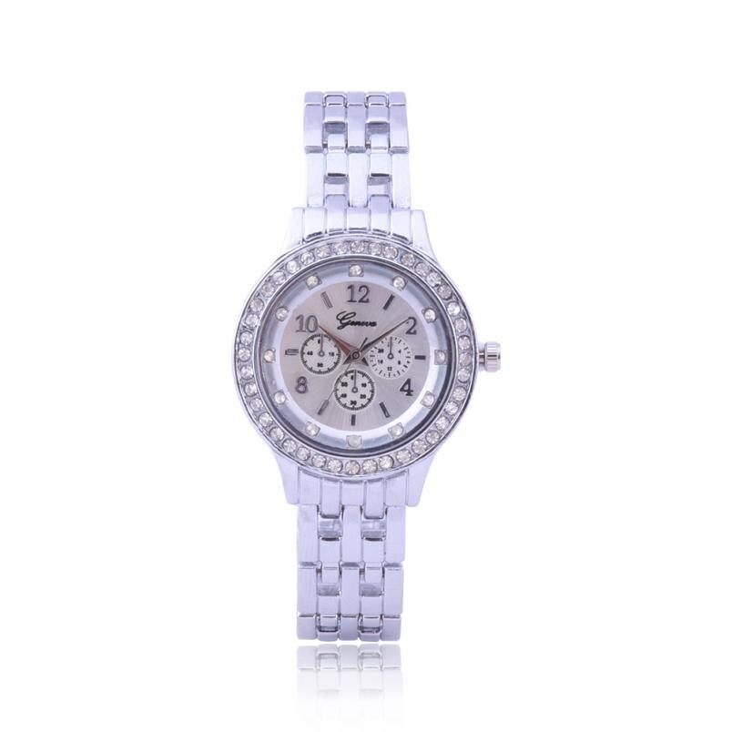 2018 Women Metal Strap Wristwatch Bracelet Quartz watch Woman Ladies Watches Clock Female Couple Fashion Stainless Steel New Q40