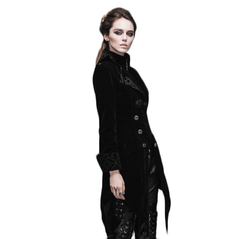 Gothic Women's Coat Steampunk Court Loyal Long Қаптамалар - Әйелдер киімі - фото 4