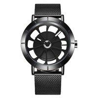 2018 Новый Для женщин Для мужчин S часы Роскошные Для мужчин большой циферблат Нержавеющаясталь Спорт Повседневные часы модные мужские вращ