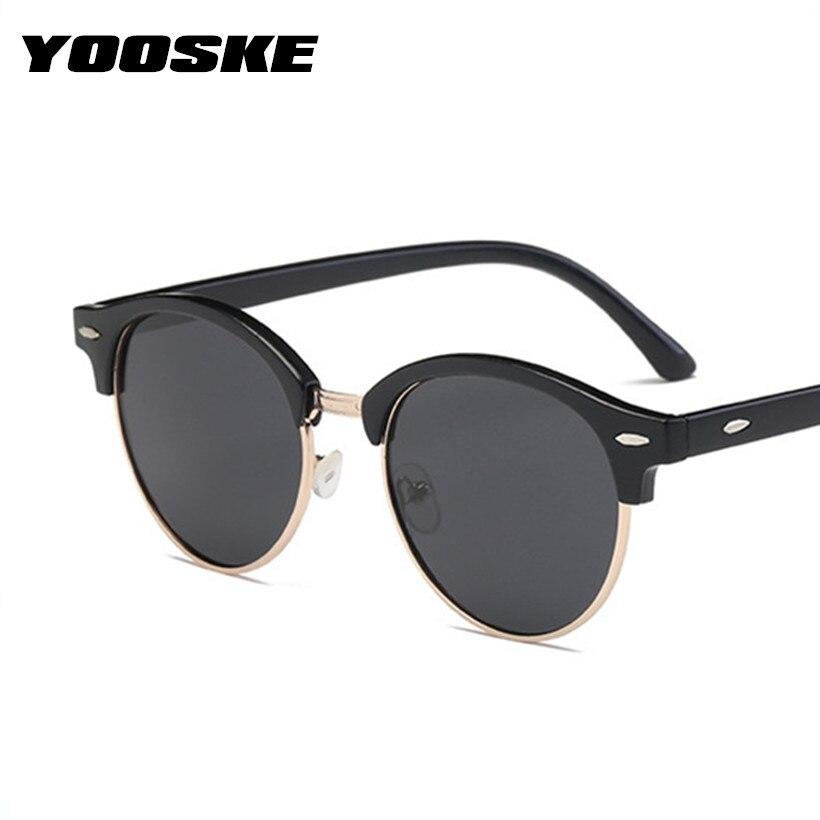 YOOSKE Retro Runde Sonnenbrille Männer Polarisierte Sonnenbrille ...