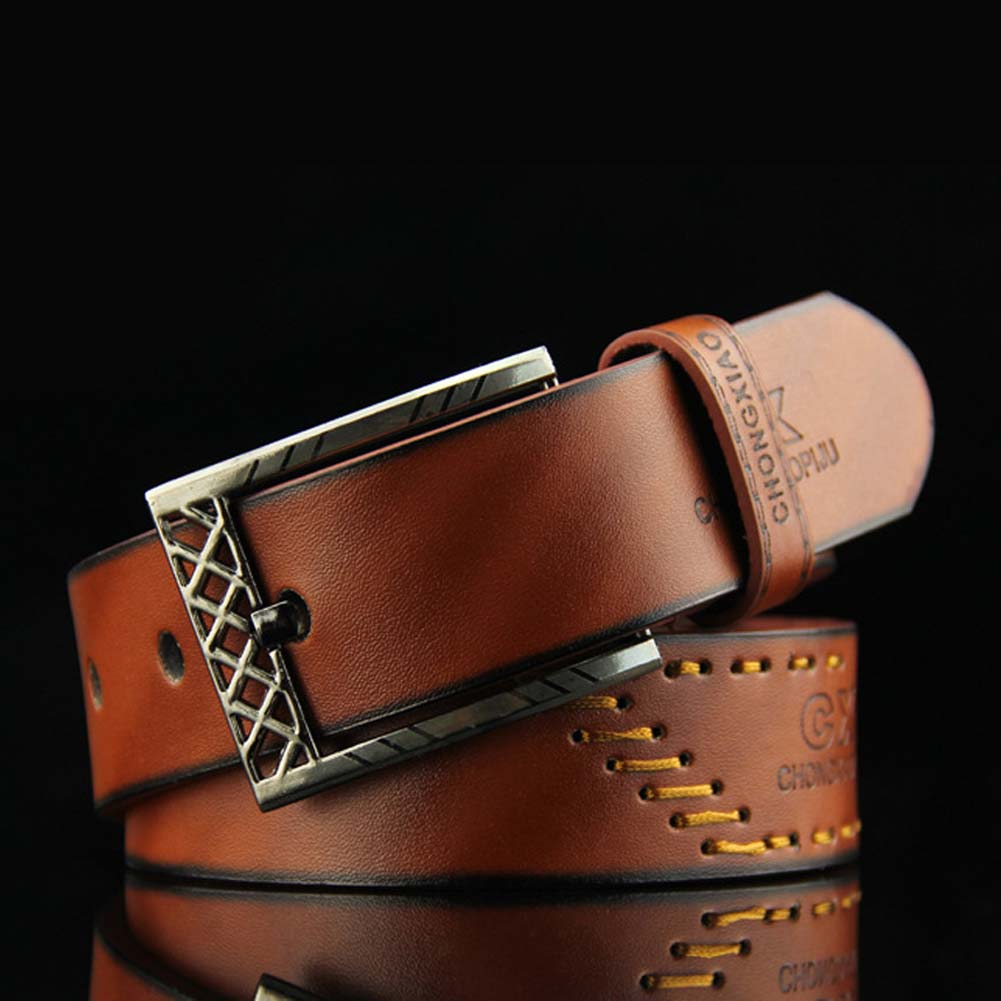 110cm  Good Quality Luxury Leather Men Pin Buckle Belts Strap Male Masculino