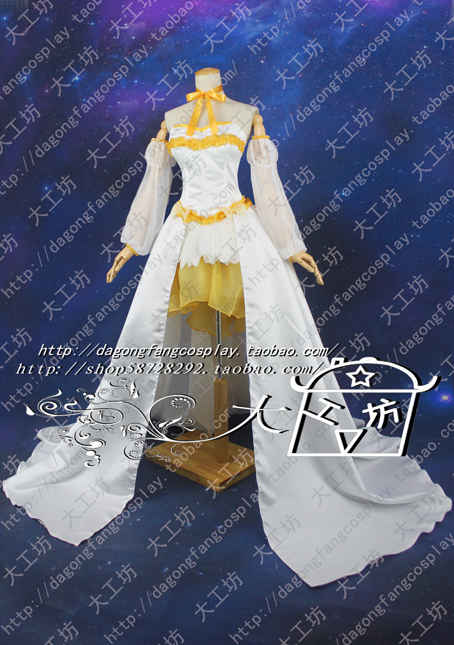 Puella Magi Madoka Magica Tomoe Mami Cosplay Costume long tail dress цена