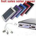 2015 new Solar Power Bank External Battery 12000mah external battery powerbank Solar Charger for iPhone for HTC for PSP