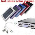2015 nueva batería externa solar power bank 12000 mah batería externa powerbank cargador solar para el iphone para htc para psp