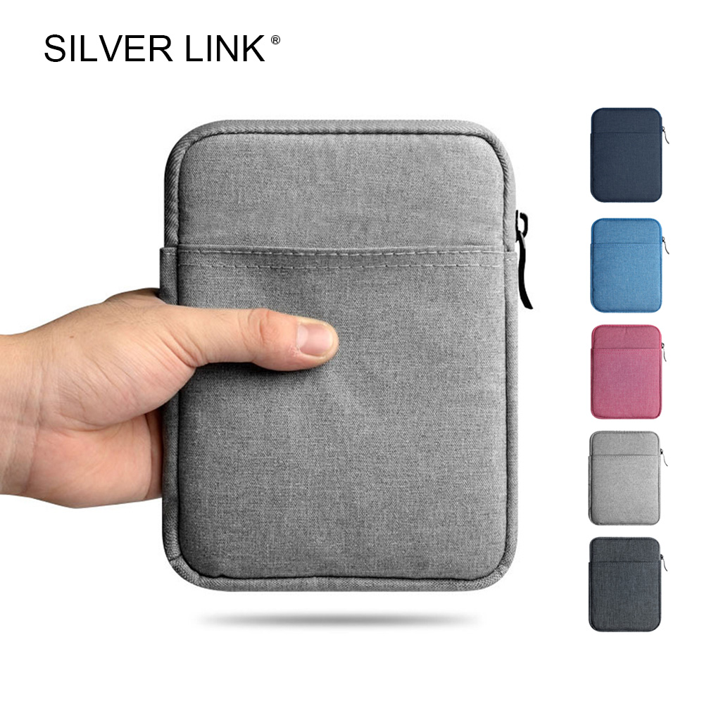 SILVER LINK Kindle Case Bag Travel Pouch For Amazon E-reader Protector Sleeve Cover Fits Kindle 7/8 Paperwhite 1/2/3 Voyage three fold ultra thin advanced leather for kindle fire hdx7 case high quality e book case 7 inch sleeve e reader anti dust case