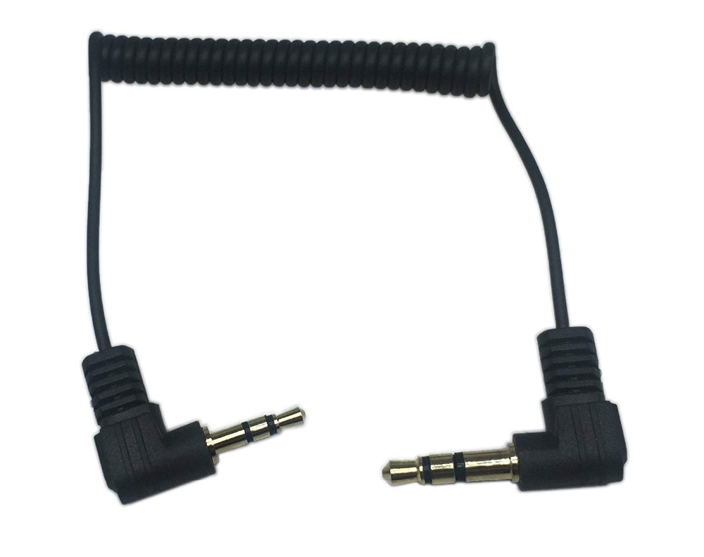 Cable Length: 0.9m, Color: Black Cables 2pcs 3.5mm Right Angle Male to Female Audio Extension Cable Gold 90CM 3FT