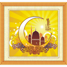 Diamond draw the Islamic holy month of Ramadan complete drill cross stitch embroidered square religious diamonds painting 5d
