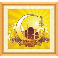 Diamond trekken de Islamitische heilige maand van Ramadan compleet boor kruissteek geborduurde vierkante religieuze diamonds schilderen 5d