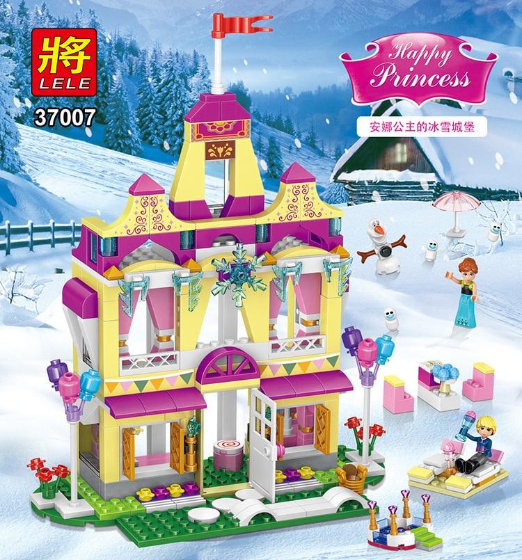 LELE 37007 Princess Belles Enchanted Castle Building Blocks For Girl Friends Kids Model Toys Marvel Compatible Lepin 41068