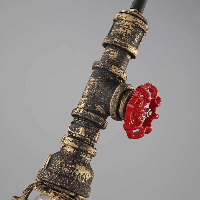 Horsten Лофт ретро промышленный винтажный стимпанк водопровод Подвесная лампа красочная пеньковая веревка свет для бара ресторана столовой