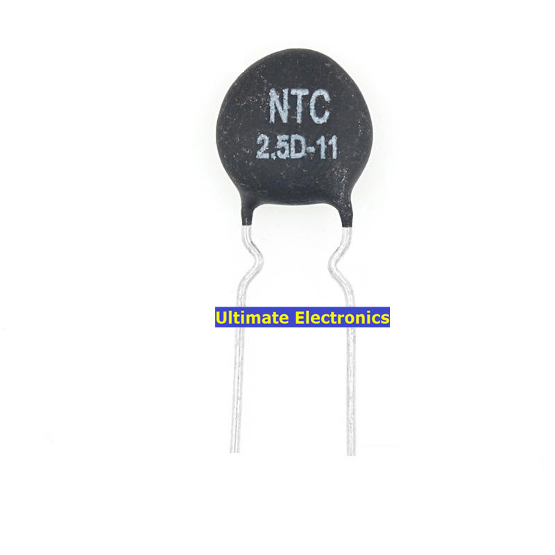 Directly Inserted Negative Temperature NTC Thermistors Black Silver Tone Chip Resistance of Electronic Components 100PCS