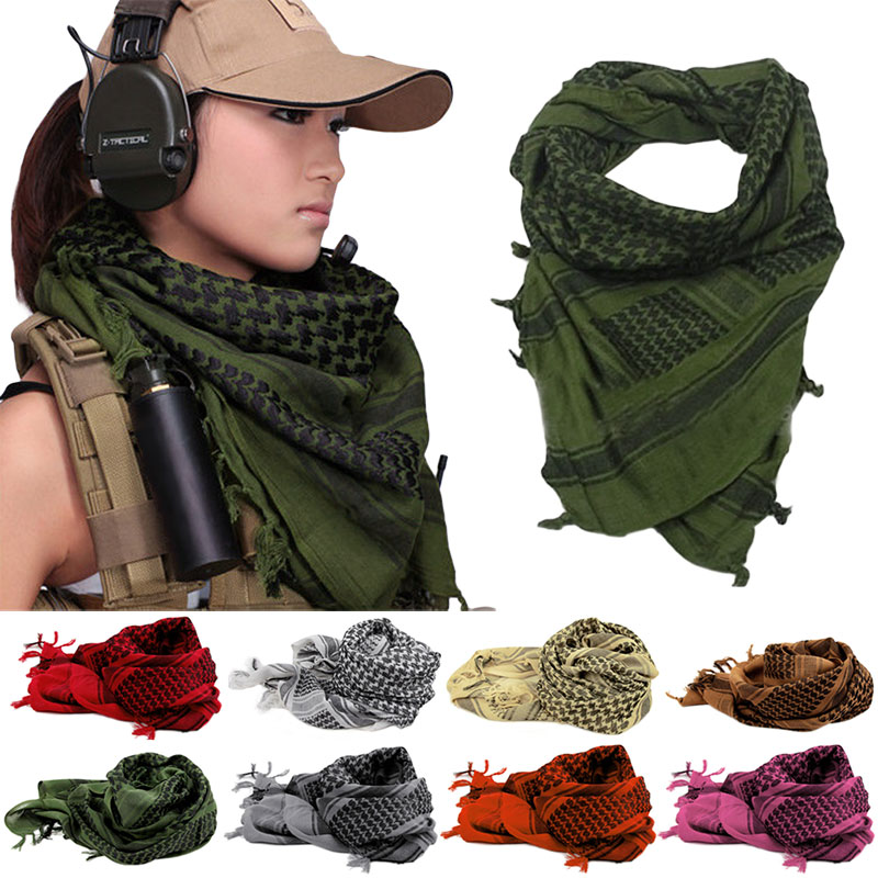 Shemagh Thicken Muslim Hijab Multifunktion Tactical Head Tørklæde Arabisk Keffiyeh Wrap Bandana Palestina Islamic Military Scarve
