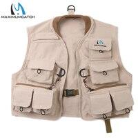 Maomumcatch Fly Fishing Vest 100 Cotton Fly Vest Children Jacket Multi Pocket For Kids Youth