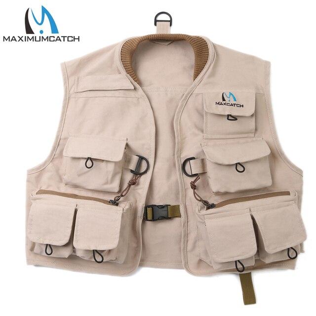 7da9ab74dc946 Maximumcatch mouche pêche gilet 100% coton mouche gilet enfants veste Multi  poche pour enfants jeunes