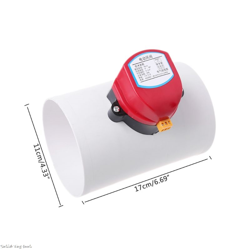 Image 5 - 220V Plastic Electric Damper Check Valve 110mm Air Volume Control Valves For Ventilation PipeValve   -