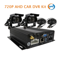 Free Shipping 4CH 720P AHD GPS SD Car DVR Video Recorder Real Time Record 2 X