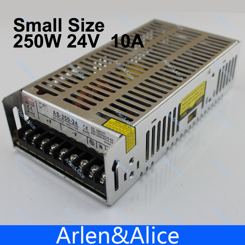 250W 24V  Small Volume Single Output Switching power supply for LED Strip light