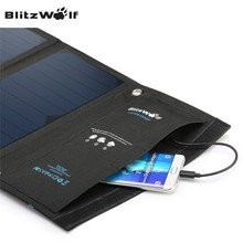 Original 15W 2A Foldable Portable Dual USB SunPower Solar Cell Panel Charger Power Bank For iPhone For Smartphone