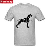 トールサイズドーベルマン犬tシャツ男性ユニークな半袖コットンメンズtシャツ卸売80 sヴィンテージアパレル