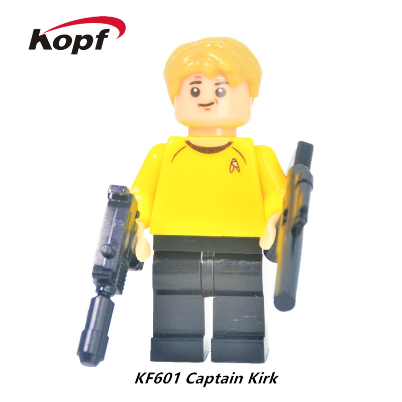 KF601 Single Sale Super Heroes Captain Kirk Spock Star Trek Bricks Set Model Building Blocks Best Education Toys for children