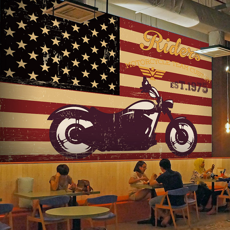 buy retro metal american flag harley cars. Black Bedroom Furniture Sets. Home Design Ideas