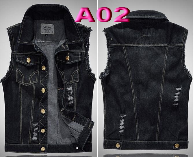 Men's Clothing Independent Punk Mens Denim Vest Black Skull Embroidery Denim Waistcoat Brand Slim Fit Sleeveless Jackets For Male X1580
