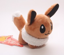 Free shpping 5inch Eevee plush toy Pikachu Pocket Wizard plush doll