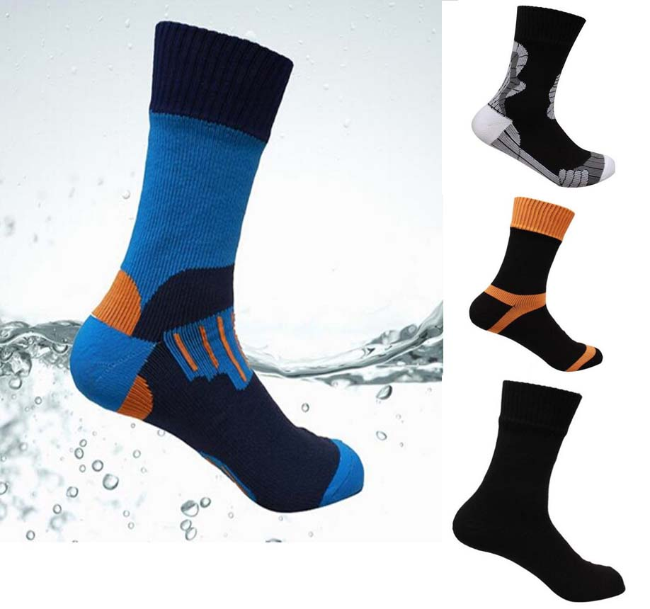 Free Ship Top Quality Waterproof Socks Men Women Cycling Climbing Hiking Skiing Socks High Outdoor Warm Breathable Sports Socks