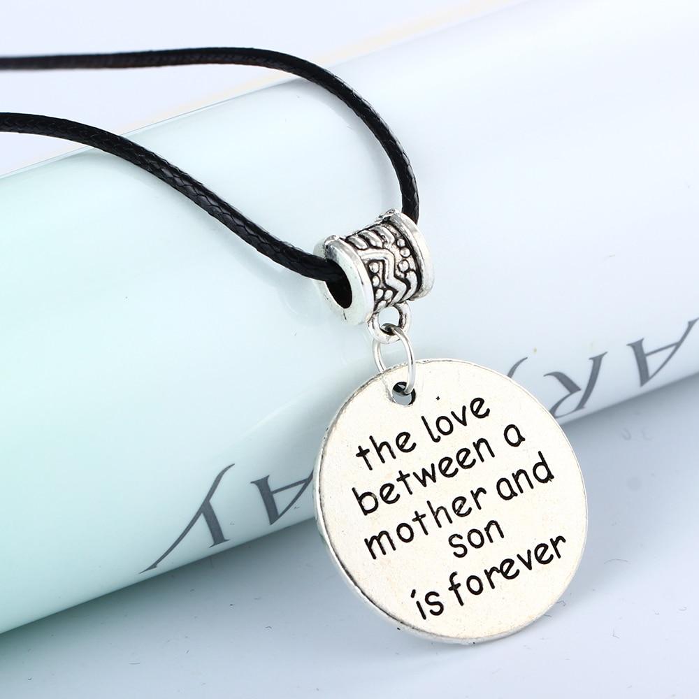 Bespmosp Love Between Mother Son Charm Silver Pendant Chain Bead ...