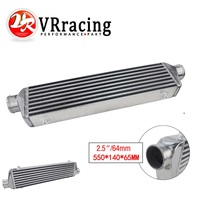 VR RACING 550*140*65mm Universal Turbo Intercooler bar&plate OD=2.5 Front Mount intercooler VR IN811 25
