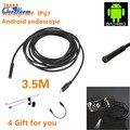 6 LED 7mm Lente Android Tubo Boroscopio Endoscopio USB de Inspección Impermeable Cámara con 3.5 m Cable Espejo Gancho Imán