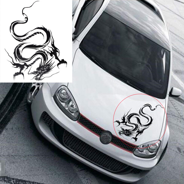 1pcs Chinese Dragon Car Stickers and Decals For Car Head Hood Doors Graphic Wrap Auto Decal Racing Vinyl Car Styling