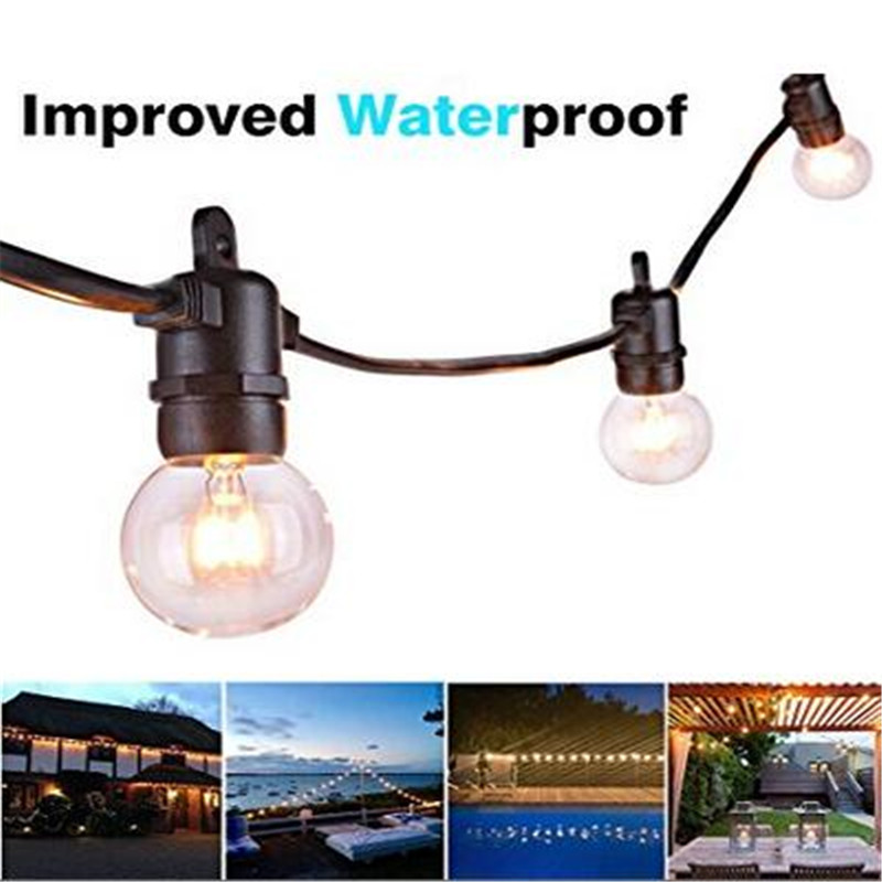 ARILUX 7.62M String Lights with 25 G40 Globe Bulbs Outdoor Waterproof Ball String Light for Party Patio Garland Wedding 8 8m g40 globe string lights bulbs outdoor waterproof patio lights copper wire led holiday lights ball wedding home decoration