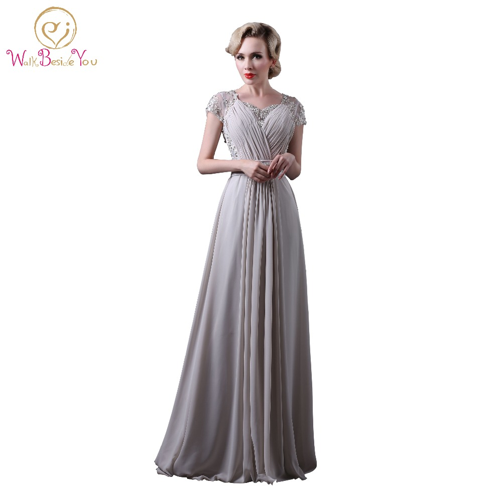 Popular Long Formal Dress Gray with Lace-Buy Cheap Long Formal ...