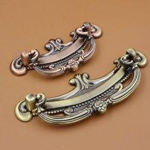 2.5 3.75 Bronze Copper Dresser Bail Pull Drawer Knobs Pulls Handles Cabinet Drop Retro Kitchen Furniture Handle