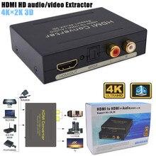 2160P Hd 4K X 2K 3D Hdmi Naar Hdmi Audio Video Extractor Optische Spdif, verwijder Hdcp Sleutel Overeenkomst Audio Converter Separator, Eu Plug