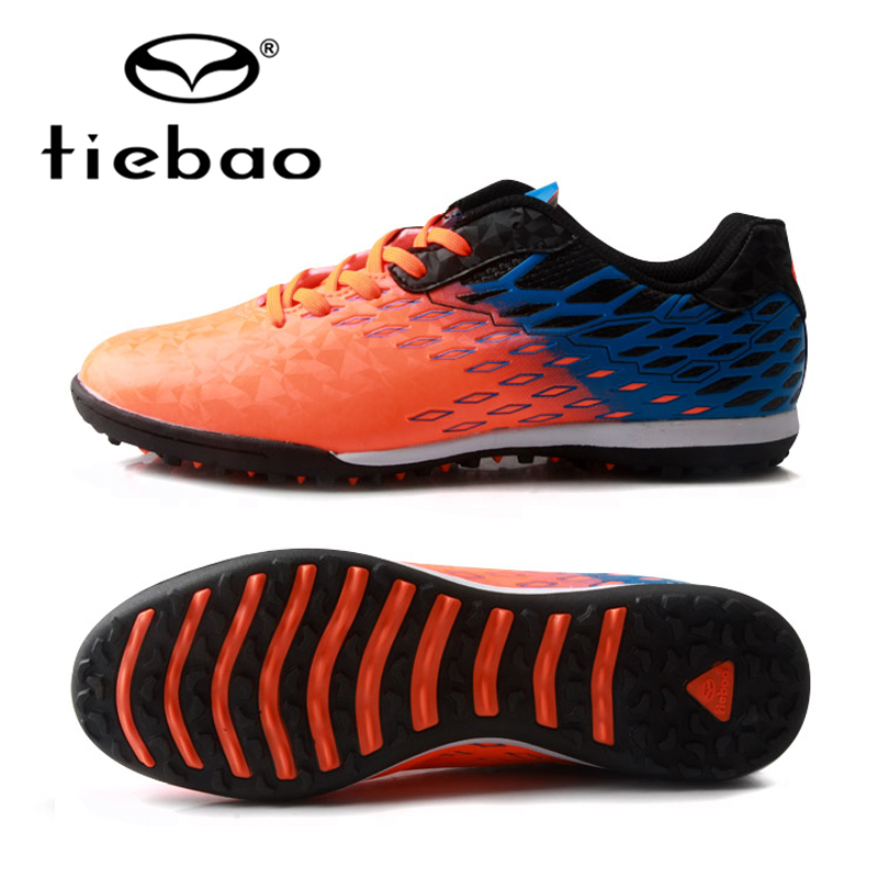 TIEBAO Brand Soccer Shoes 2017 Teenagers Sports Football Boots TF Turf Soles Sneakers Wear-resistant non-slip Soccer Cleats tiebao brand professional adults soccer shoes men women outdoor football boots cleats tf turf soles athletic trainers sneakers