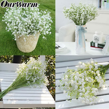 OurWarm 12pcs Artificial Fake Silk Gypsophila Babys Breath Flower Wedding Bouquet Decor Home vase Decorative Flowers 40cm