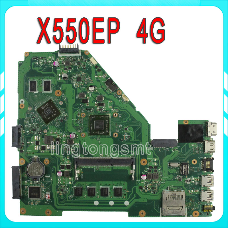 for ASUS F552E F552EP X552E X552EP REV2.0 Motherboard With Processor On board HD8670M 4G Memory 60NB03Q0-MB9120 100% test samsung rs 552 nruasl