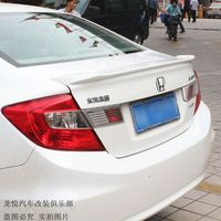 Car Accessories For Honda Civic 2012 2013 Hot ABS Plastic Unpainted Primer Color Rear Trunk Boot Wing Spoiler Auto Decoration