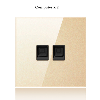 with USB Champagne Gold 1 2 3 4 Gang 1 Way 2 Way Glass Mirror Switch 86 type Wall Switch France Germany UK socket Household 12