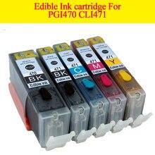 GN 5pcs PGI470 CLI471 PGI 470 XL CLI 471 XL edible ink cartridge For canon Pixma MG574 MG6840 MG7740