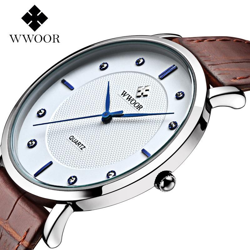 Brand wwoor Men's watch Quartz watches men watches crystal Top Brand Luxury Design vintage relogio masculino Genuine Gift Boxes