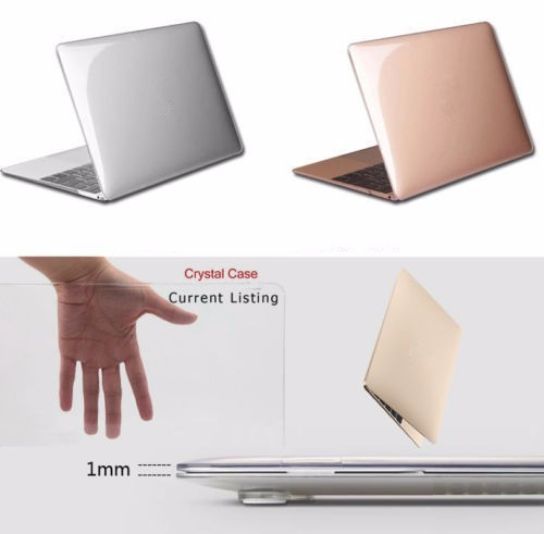 все цены на Transparent Crystal Plastic Hard Clear Laptop Shell Case Cove For Macbook air 11 12 13 15 inch Pro Retina Protector cover clear